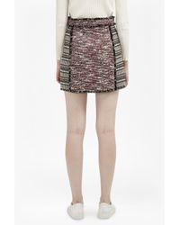 French Connection - Black Pixel Mix Cotton Mini Skirt - Lyst