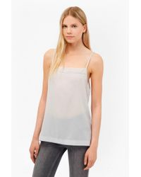 French Connection - White Crepe Light Stitch Cami - Lyst