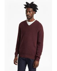 French Connection - Purple Encore Knits V Neck Jumper for Men - Lyst