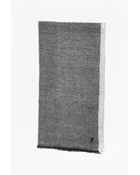 French Connection | Gray Reversible Waffle Knit Scarf for Men | Lyst