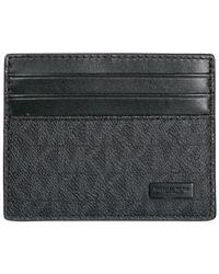 Michael Kors - Black Credit Card Case Holder Wallet Tall for Men - Lyst