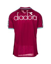 Diadora - Red Short Sleeve T-shirt Polo Collar for Men - Lyst