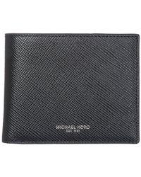 Michael Kors - Black Genuine Leather Wallet Credit Card Bifold Harrison for Men - Lyst
