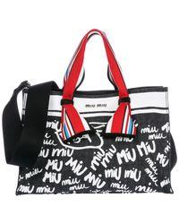 Miu Miu - Black Handbag Shopping Bag Purse - Lyst