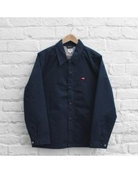 Obey - Blue Enforcement Jacket for Men - Lyst