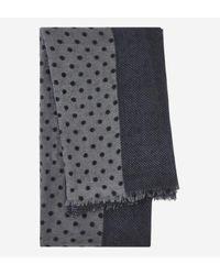 Azzaro - Multicolor Echarpe en laine à imprimé pois for Men - Lyst