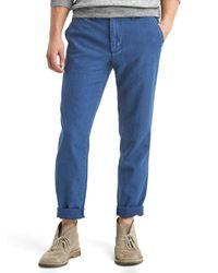 Gap   Blue Vintage Indigo Slim Fit Pants for Men   Lyst