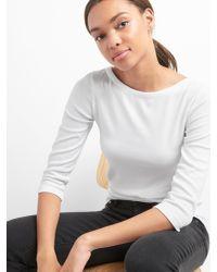 Gap - White Modern Elbow Sleeve Ballet-back T-shirt - Lyst
