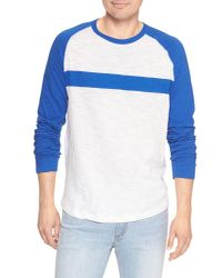 GAP Factory - Blue Lived-in Baseball T-shirt In Jersey for Men - Lyst