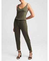GAP Factory - Green Strappy Jumpsuit - Lyst