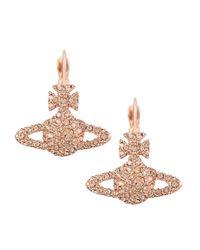 Vivienne Westwood - Grace Bas Relief Drop Earrings Light Rose/pink Gold - Lyst