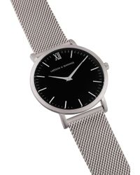 Larsson & Jennings - Lugano 40mm Watch Silver Milanese/black for Men - Lyst