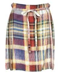 Vivienne Westwood Anglomania - Blue Faded Tartan Hope Kilt Navy - Lyst