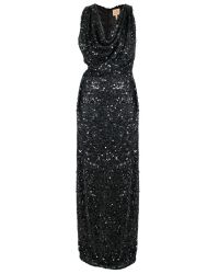 Vivienne Westwood Gold Label | Long Sequin Fond Dress Black | Lyst