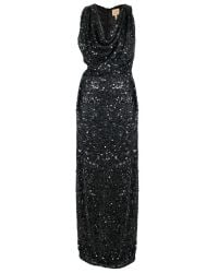Vivienne Westwood Gold Label - Long Sequin Fond Dress Black - Lyst