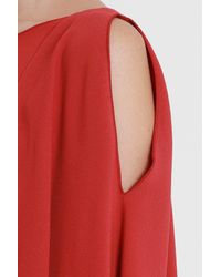 Alberta Ferretti - Red Short Dress - Lyst