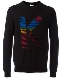 KENZO - Black K Print Sweatshirt for Men - Lyst