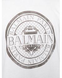 Balmain Multicolor Logo Print Hoodie for men