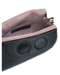J.W. Anderson - Black Pierce Mini Leather Crossbody Bag - Lyst