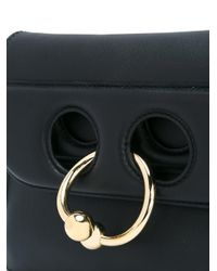 J.W. Anderson - Black Pierce Mini Leather Crossbody Bag - Lyst