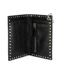 Valentino - Black Soul Rockstud Leather Wallet - Lyst
