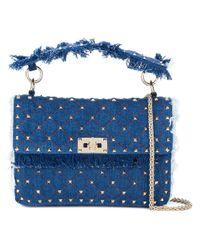 Valentino - Blue Garavani Rockstud Spike Chain Bag - Lyst