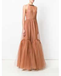 N°21 - Brown Backless Tulle Gown - Lyst
