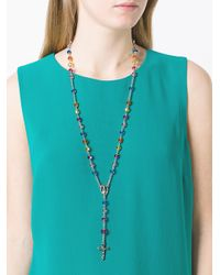 Givenchy - Multicolor Crucifix Rosary Necklace - Lyst