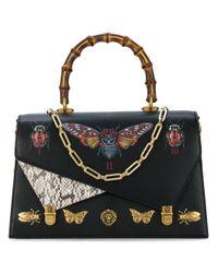 eb121540ed2 Gucci Leather Top Handle Bag Ottilia - Lyst