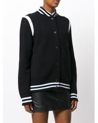 Givenchy | Black Logo Knitted Bomber Jacket | Lyst