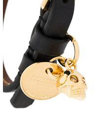 Alexander McQueen - Multicolor Skull Wrap Bracelet for Men - Lyst