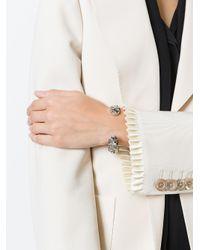 Gucci | Metallic Crystal-embellished Silver Bracelet | Lyst
