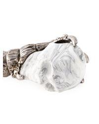 Alexander McQueen | Multicolor Skull Bracelet for Men | Lyst