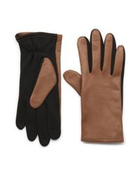 G.H. Bass & Co. | Brown I-touch Glove With Leather for Men | Lyst