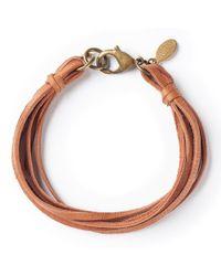 G.H. Bass & Co. | Multicolor Astali ® Deerskin Leather Bracelet | Lyst