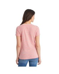 G.H. Bass & Co. - Pink Short Sleeve Stripe Tee - Lyst
