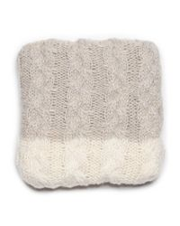 G.H. Bass & Co. - Gray Colorblock Cable Oblong Scarf - Lyst
