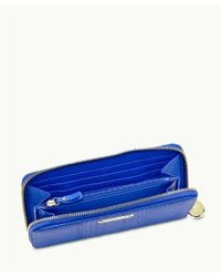 Gigi New York | Blue Large Zip Around Wallet | Lyst