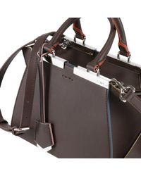 Fendi - Brown Leather Tote Bag - Lyst
