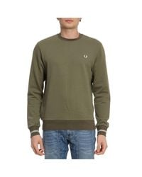 Fred Perry - Green Sweater Men for Men - Lyst