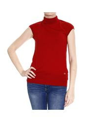 Class Roberto Cavalli | Red Roberto Cavalli Women's Sweater | Lyst