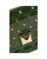 Hervê Guyel | Green Mini Bags Anya Studs Across Body Chain | Lyst