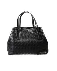 Bottega Veneta | Black Handbag Shopping Woven | Lyst