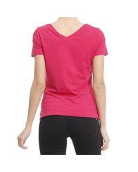 Armani Jeans - Pink T-shirt - Lyst