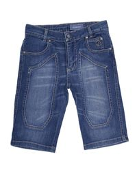 Jeckerson - Blue Jeans Bermuda Denim Used Slim Con Toppa for Men - Lyst