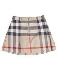 Burberry | Gray Gonna Check Con Zip | Lyst