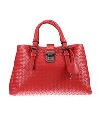 Bottega Veneta | Red Tote Bags | Lyst