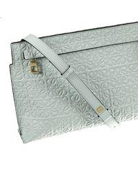 Loewe - Blue Mini Bag Medium Logo Leather T-pouch - Lyst