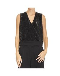 Emporio Armani | Black Top Woman | Lyst