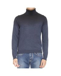 Emporio Armani | Blue Sweater Man for Men | Lyst